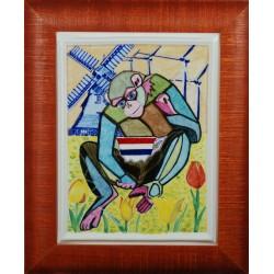 "Obraz porcelanowy"" Małpa Holenderska"""