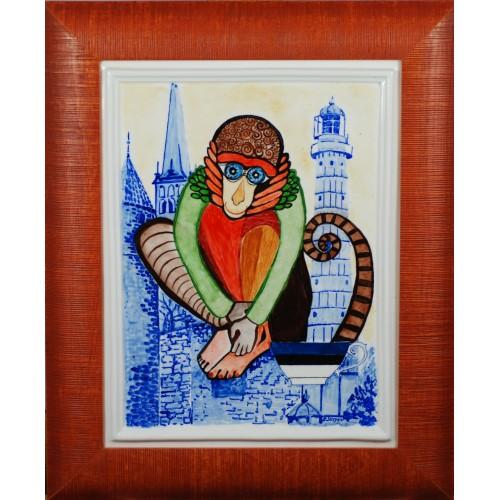 "Porcelain painting ""Estonian Monkey"""