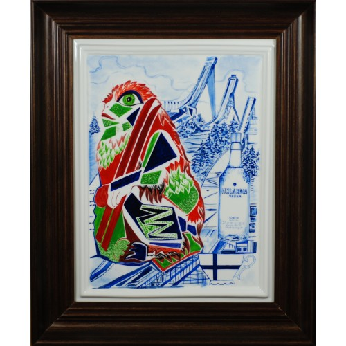 "Porcelain painting ""Finnish Monkey"""