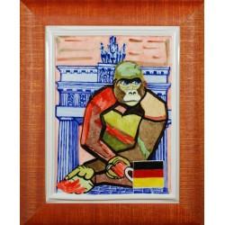 """Obraz porcelanowy"""" Małpa Niemiecka"""""""