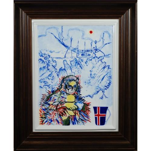 """Porcelain painting """"Icelandic Monkey"""""""