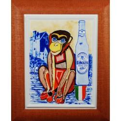 """Obraz porcelanowy"""" Małpa Irlandzka"""""""