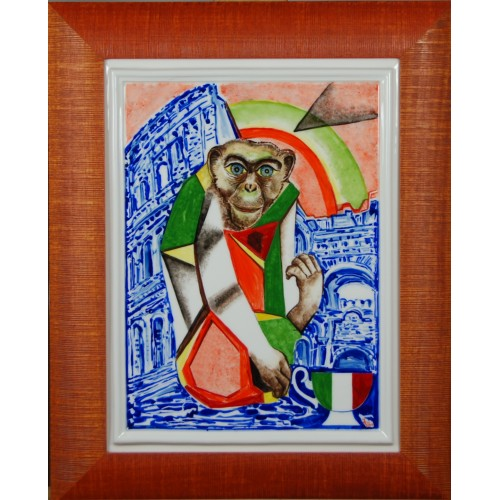 "Porcelain painting ""Italian Monkey"""
