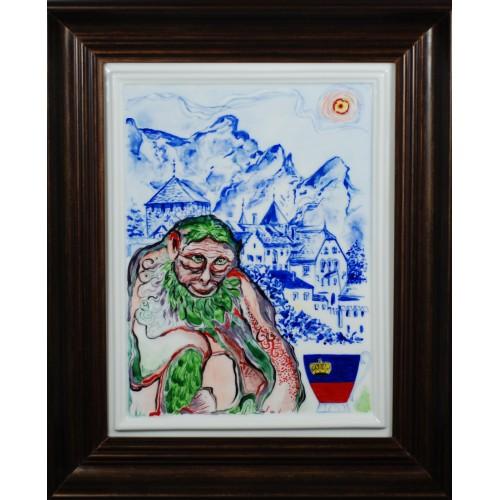 """Porcelain painting """"Italian Monkey"""""""