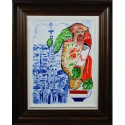 "Obraz porcelanowy ""Małpa Luksemburska"""