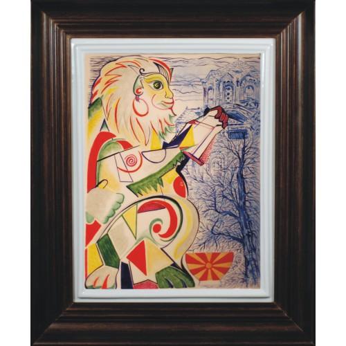 "Porcelain painting ""Macedonian Monkey"""