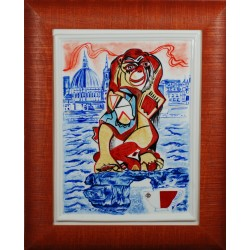 "Porcelain painting ""Maltese Monkey"""