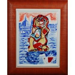 "Porcelain painting ""Maltese Monkey"""