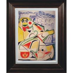 "Porcelain painting ""Montenegrin Monkey"""