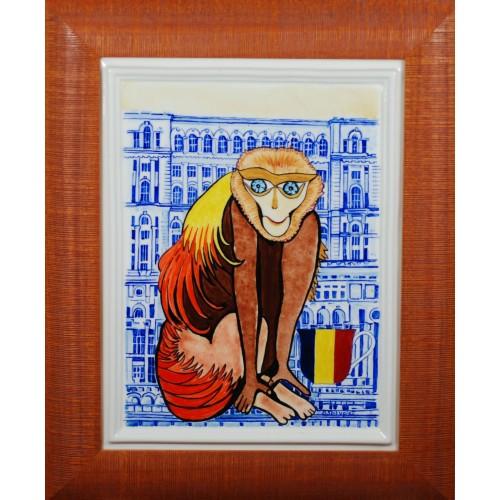 """Porcelain painting """"RomanianMonkey"""""""