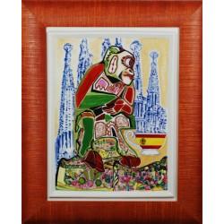 """Obraz porcelanowy """"Małpa Hiszpańska"""""""