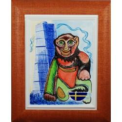 """Obraz porcelanowy """"Małpa Szwedzka"""""""
