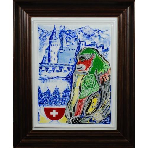 """Obraz porcelanowy """"Małpa Szwajcarska"""""""