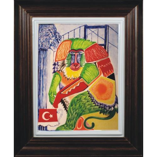 """Obraz porcelanowy """"Małpa Turecka"""""""