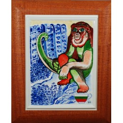 "Porcelain painting ""Bulgarian Monkey"""