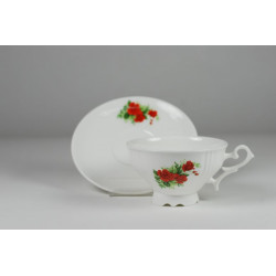 Cmielow cup - decoration red rosies