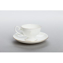 Prometheus espresso cup with gold/platinum stripe