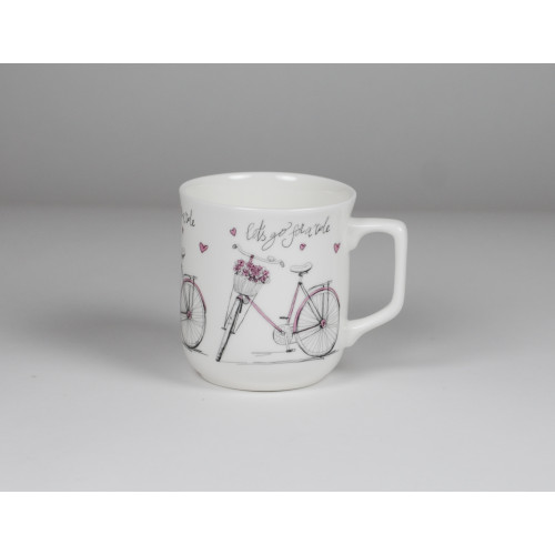 Cmielow mug - decoration Pink bike