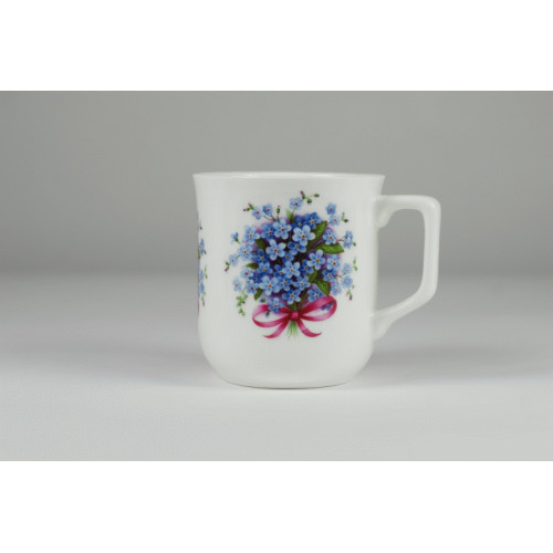 Cmielow mug - decoration Forget-me-not