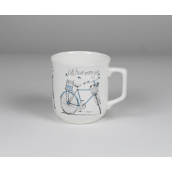 Cmielow mug - decoration Blue bike