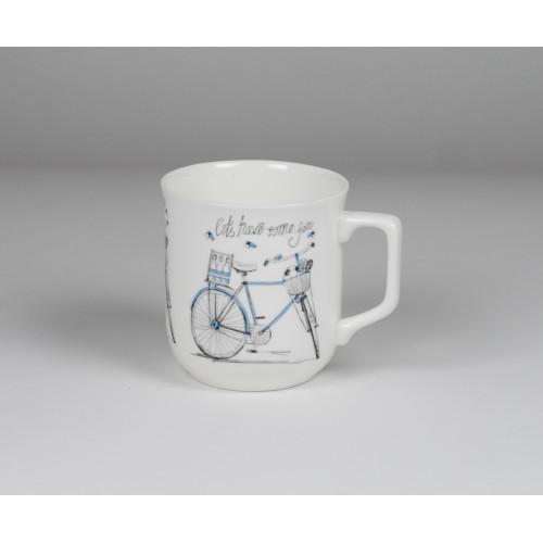 Kubek Ćmielowski - dekoracja Niebieski rower