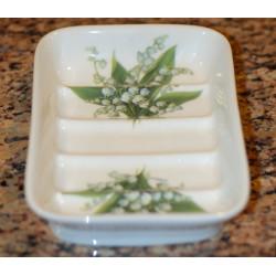 Porcelain soapholder - decoration Lily of the valley
