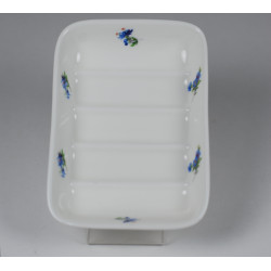 Porcelain soapholder - decoration Violets
