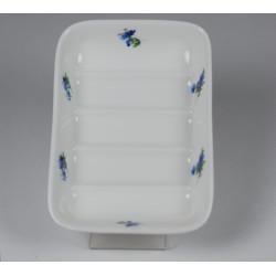 Porcelanowa mydelniczka - dekoracja Fiołki