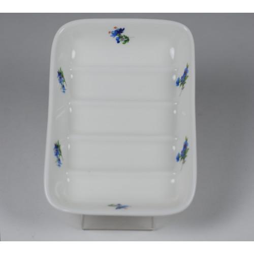 Porcelain soapholder - decoration Violets