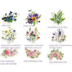 Porcelanowa mydelniczka - dekoracja kwiatowe