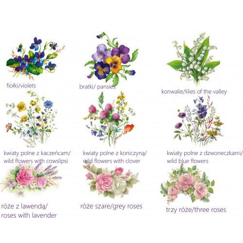 Porcelain soapholder - decoration flowers