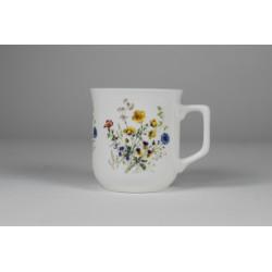 Kubek Ćmielowski - dekoracja kwiaty polne z kaczeńcami