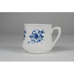 Kubek śląski (mały) - dekoracja niebieskie kwiaty