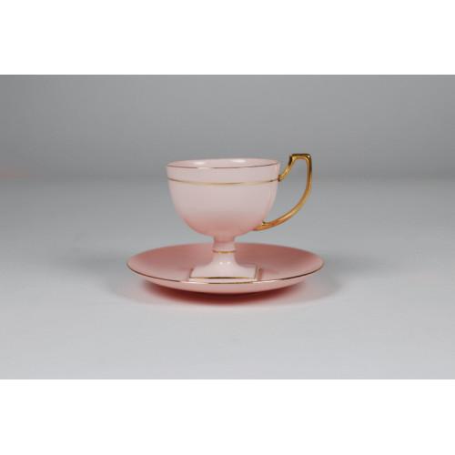 Filiżanka Matylda kawa/espresso (różowa porcelana)