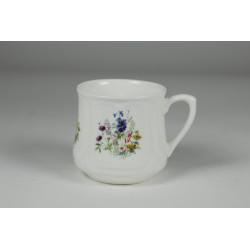 Silesian mug (small) - decoration with blue flowers