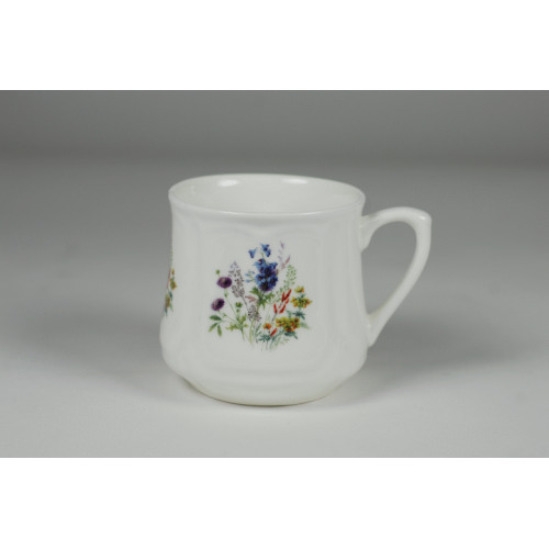 Silesian mug (small) - decoration with blue flowers