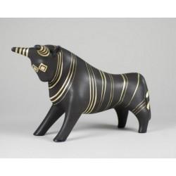 Byk dekoracja czarno-złota