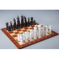 Porcelain Monkey Chess