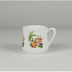 Kubek śląski (mały) - dekoracja Zajączek z motylkiem