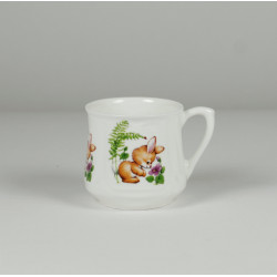 Silesian mug (small) - decoration Bunny with butterfly