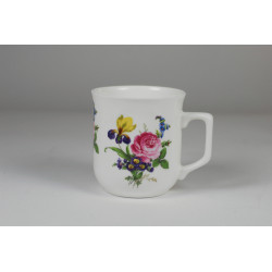 Cmielow mug - decoration peony with irys
