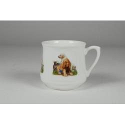 Kubek śląski (mały) - Pieski z motylkiem
