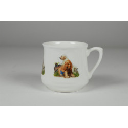 Silesian mug (small) - Little dogs with a butterfly