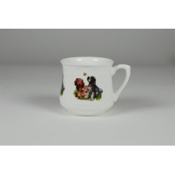 Silesian mug (small) - Little dogs with a bee