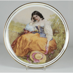 "Decorative plate ""Romantic Meditation"""