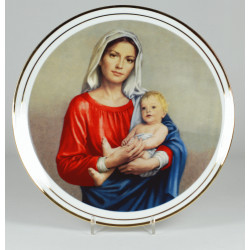 "Decorative plate ""Madonna of the twilight"""