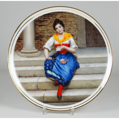 "Decorative plate ""Neapolitan's Woman"""