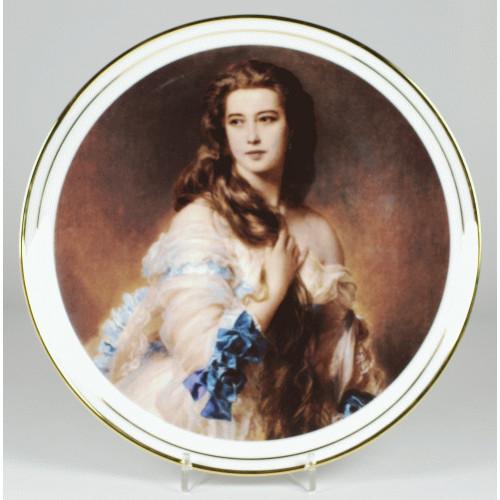 """Decorative plate """"Portrait of a woman"""""""