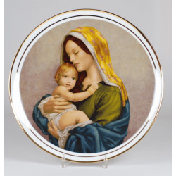 "Decorative plate ""Our Lady with a child"""