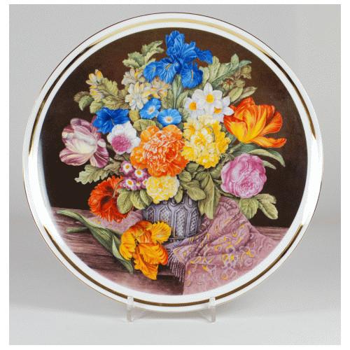 """Patera """"Bukiet kwiatów z fioletowym szalem"""""""